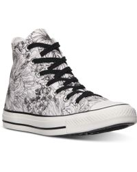 Converse Women'S Chuck Taylor Hi Top Casual Sneakers From Finish Line black - Lyst
