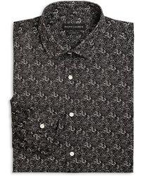 Ralph Lauren Black Label Tailored-Fit Sloan Floral-Print Dress Shirt - Lyst