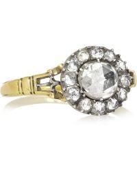 Olivia Collings 1860S 18-Karat Gold Diamond Ring - Metallic