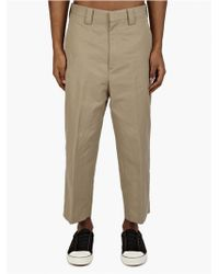 Acne Studios Men'S 'Zooty' Cotton Trousers brown - Lyst