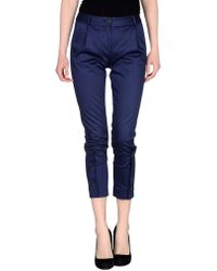 Vivienne Westwood Anglomania Casual Trouser blue - Lyst