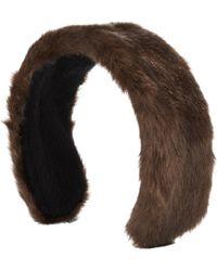 Jennifer Ouellette - Women's Faux Fur Headband - Lyst