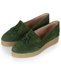 Topshop Kobbler Fringe Flatform Shoes green - Lyst
