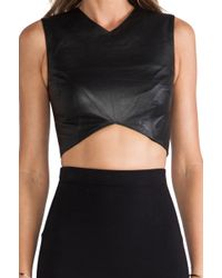Nicholas Leather Crop Top - Lyst