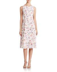 Shoshanna Viviana Floral Stripe Dress multicolor - Lyst