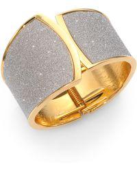 ABS By Allen Schwartz - Glitter Cuff Bracelet - Lyst