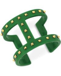 Vince Camuto - Studded T Bar Cuff Bracelet - Lyst