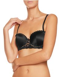 Mimi Holliday by Damaris - Satin And Lace Contour Bra - Lyst