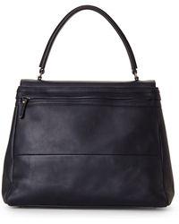 Brunello Cucinelli Black Top Handle Handbag - Lyst