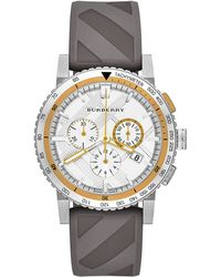 Burberry Silver-tone  Gray Chronograph Watch - Lyst
