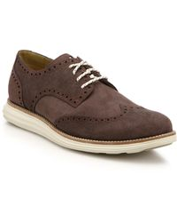 Cole Haan Lunar Grand Wingtip Derby Sneakers - Lyst