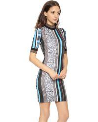 Clover Canyon Library Stripe Turtleneck Dress  - Lyst