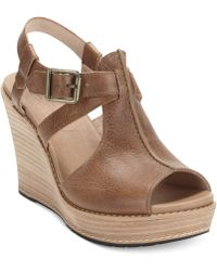 Timberland Womens Danforth Platform Wedge Sandals - Lyst