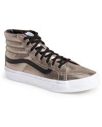 Vans 'Sk8-Hi Slim' Metallic Leather Sneaker - Lyst