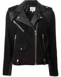 Iro Black Biker Jacket - Lyst