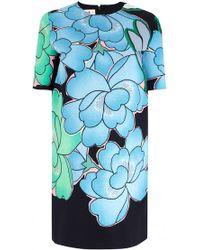 Marni Pivoine Print Short Sleeve Dress blue - Lyst