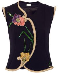 Alexis Mabille - Floral Embroidered Textured Vest - Lyst