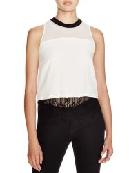 Chelsea and Walker - Brilla Lace-trimmed Silk Top - 100% Bloomingdale's Exclusive - Lyst