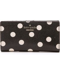 Kate Spade Cedar Street Dot Stacy Continental Wallet - Blackdeco Beige - Lyst