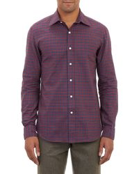 Salvatore Piccolo Red Plaid Shirt - Lyst