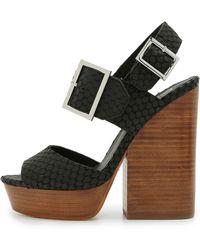 Ash Rachel Platform Sandals - Black - Lyst