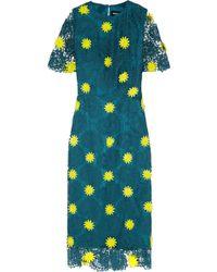 House of Holland Emily Appliquéd Macramé Lace Dress - Lyst