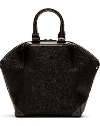 Alexander Wang Black Etched Emile Prisma Small Tote - Lyst