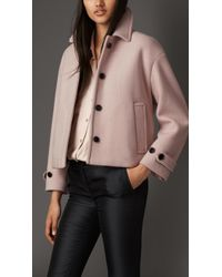 Burberry Box-Fit Cashmere Jacket white - Lyst