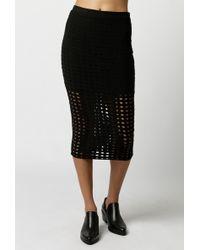 T By Alexander Wang | Circular Hole Jacquard Jersey Skirt | Lyst