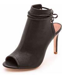 Joie Skylar Leather Platform Sandal - Black