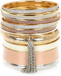 River Island Gold Tone Mixed Bangle Pack - Lyst