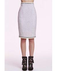 Chanel | Vintage Georgine Box Plaid Pencil Skirt | Lyst