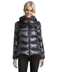Moncler Military Box Quilted Berre Hooded Down Coat - Lyst