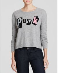 Autumn Cashmere Sweater - Punk Sequined Intarsia Cashmere - Lyst