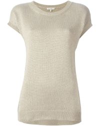 Etro Short Sleeve Sweater brown - Lyst