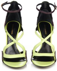 Nicholas Kirkwood Patent-Petal Leather Sandals - Lyst