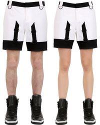 Nicopanda - Two Tone Cotton Shorts - Lyst