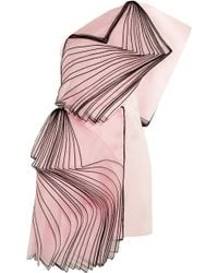 Christopher Kane One-shoulder Layered Silk Organza-paneled Satin Mini Dress - Lyst