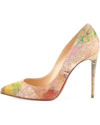 christian louboutin discount shoes - Christian louboutin Pigalle Follies Chevron Cork Pumps in ...