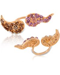 Vara Of London Le Boteh Ring Gold - Purple