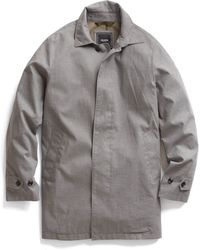 Todd Snyder Grey Short Trench Coat - Lyst