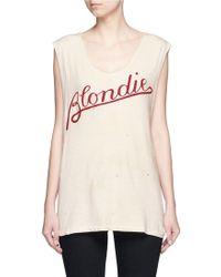 Madeworn | 'blondie T' Cotton Tank Top | Lyst