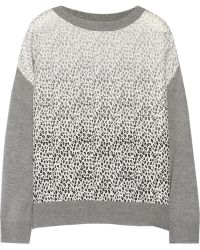 Band of Outsiders   Dégradé-Paneled Silk And Cashmere-Blend Sweater   Lyst