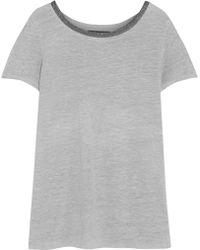 Maje Gida Embellished Linen Tshirt - Lyst