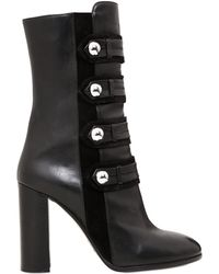 Isabel Marant 100mm Arnie Suede & Leather Boots - Black