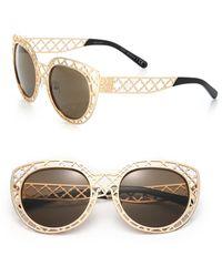 Tory Burch Lattice 52Mm Cat'S-Eye Sunglasses gold - Lyst