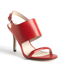 Kors By Michael Kors Hutton Leather Slingback Sandals - Lyst