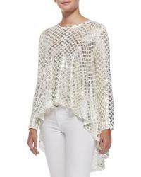 Sass & Bide A Great Offering Metallic-Weave Sweater - Lyst