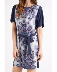 Oasis Paisley Print Kimono Dress blue - Lyst