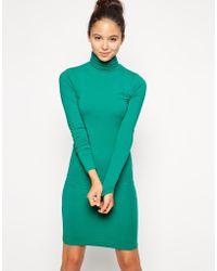 American Apparel Jersey Turtleneck Dress - Lyst
